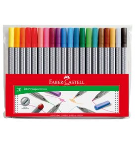 Faber-Castell - Grip Finepen 0.4 set 20x
