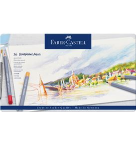 Faber-Castell - Goldfaber Aqua watercolour pencil, tin of 36