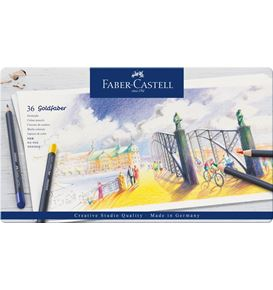 Faber-Castell - Goldfaber colour pencil, tin of 36