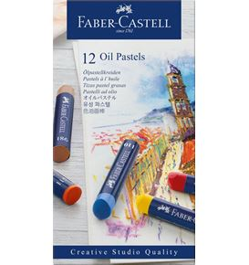 Faber-Castell - Oil pastel crayons box of 12