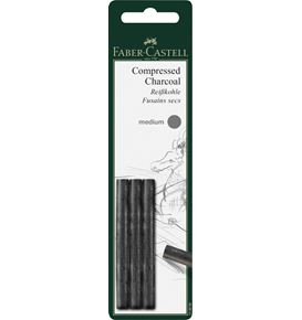 Faber-Castell - Pitt compressed charcoal stick, set of 3 medium