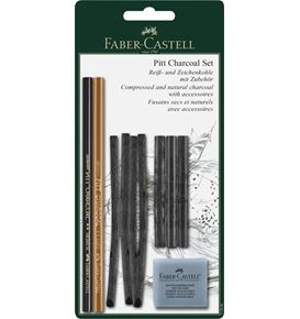 Faber-Castell - Pitt Charcoal set, 10 pieces
