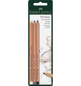 Faber-Castell - Color pencil Pitt Pastel set of 3